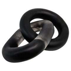 Tlaxco Handmade Black & Clear Resin Chain Sculpture, in Stock