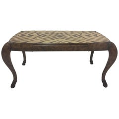 To Die for Maitland Smith Zebra Motif Leather Wrapped Desk