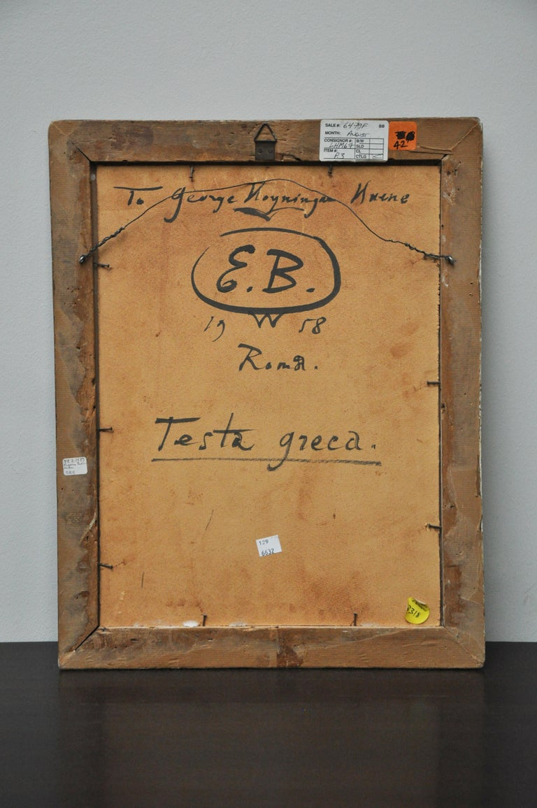 To George Huené, 'Testa Greca' Ink and Paint on Lined Paper For Sale 1