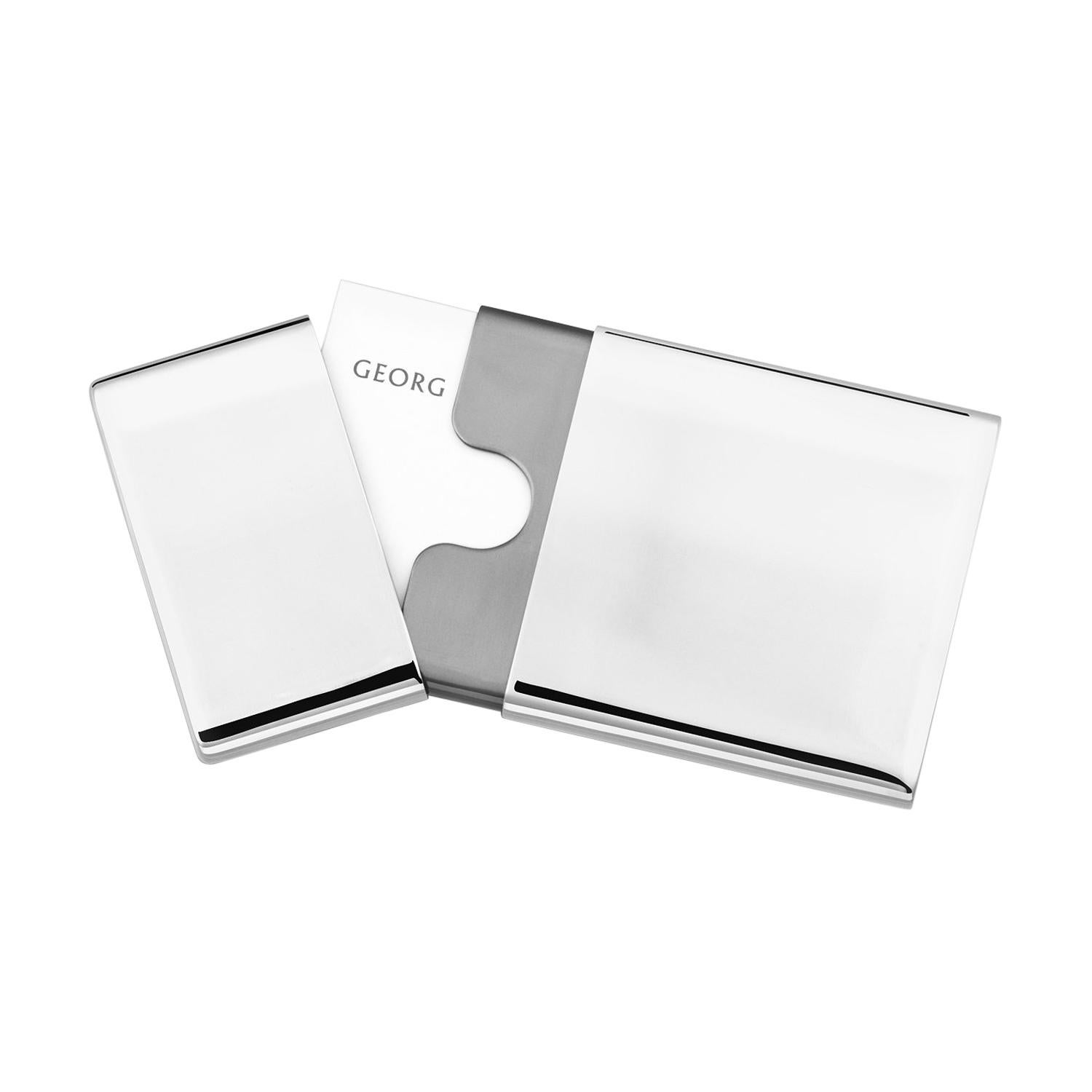 To-Go Business Card Holder in Stainless Steel Mirror Finish by Georg Jensen