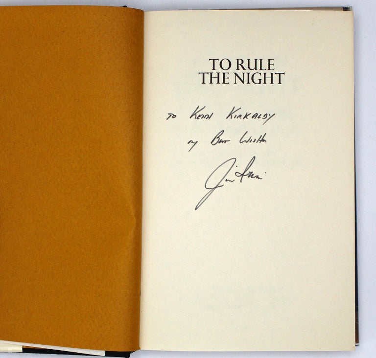 Irwin, James B., Emerson Jr., William A., To Rule the Night: The Discovery Voyage of Astronaut Jim Irwin. New York: A.J. Holman Company, 1973. First Edition, Second Printing, Signed and Inscribed. Original dust jacket.  Presented is a copy of James