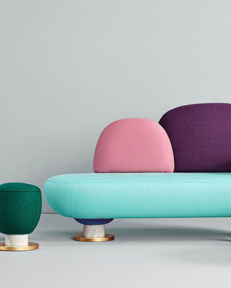 Toadstool Collection Ensemble Sofa, Table and Puffs, Masquespacio 3