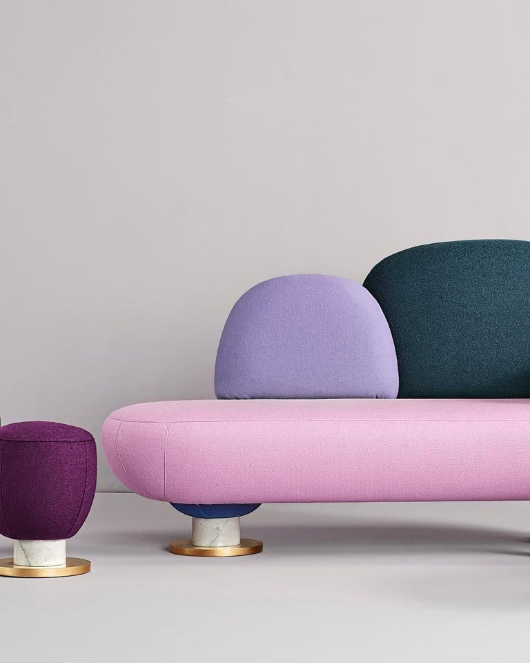 Toadstool Collection Ensemble Sofa, Table and Puffs, Masquespacio For Sale 4