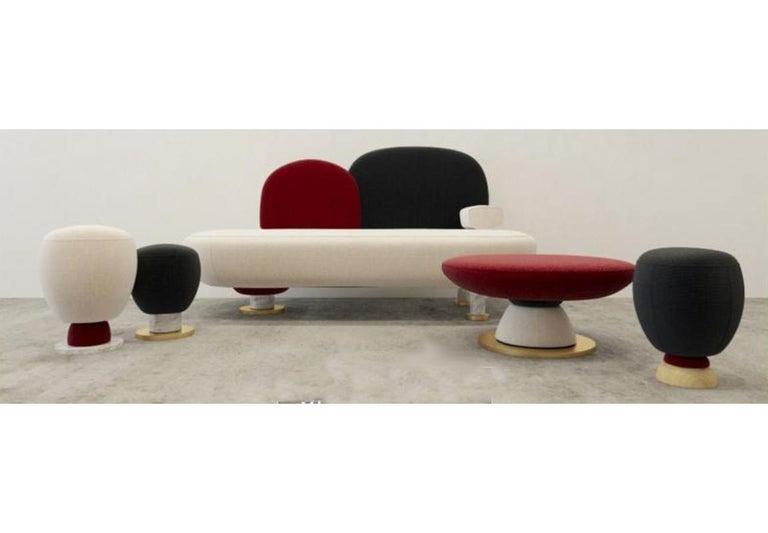 Toadstool Collection Ensemble Sofa, Table and Puffs, Masquespacio 6
