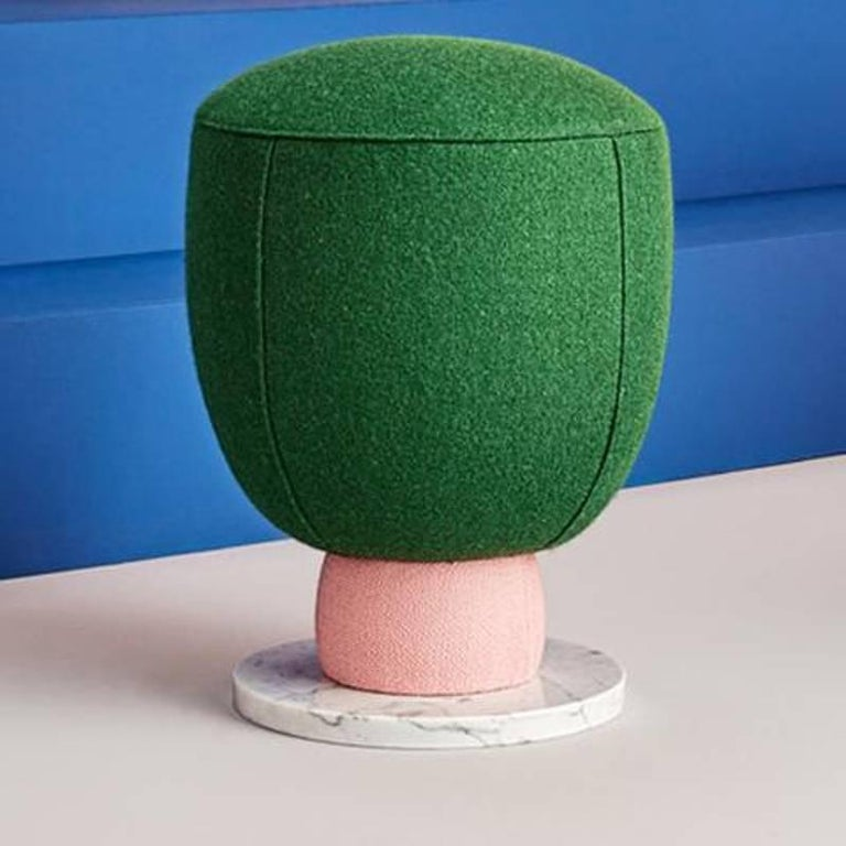 Modern Toadstool Collection Ensemble Sofa, Table and Puffs, Masquespacio For Sale