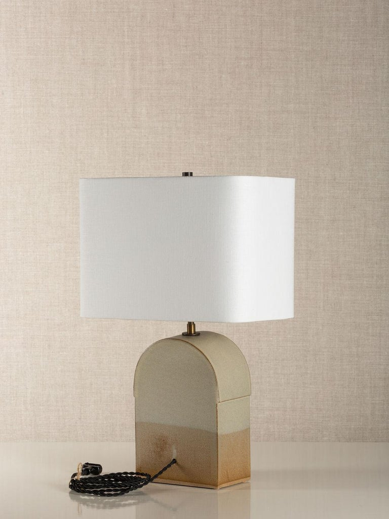 Modern Toast Lamp, Ceramic Sculptural Table Lamp by Dumais Made For Sale