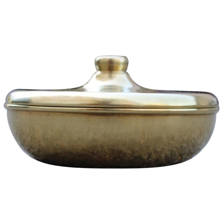 Tobacco Box from the 1970s Italian Design Solid Brass