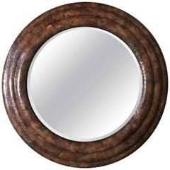 Tobacco Leaf Framed mirror by Maitland-Smith