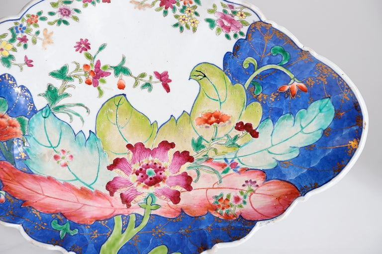 Tobacco Leaf Pattern Chinese Export Dishes, Pair For Sale 4