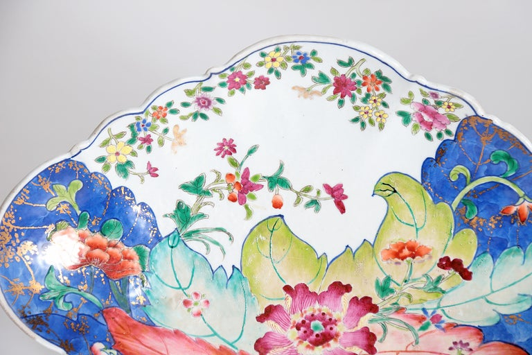 Tobacco Leaf Pattern Chinese Export Dishes, Pair For Sale 5