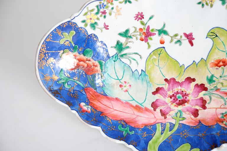 Tobacco Leaf Pattern Chinese Export Dishes, Pair For Sale 6