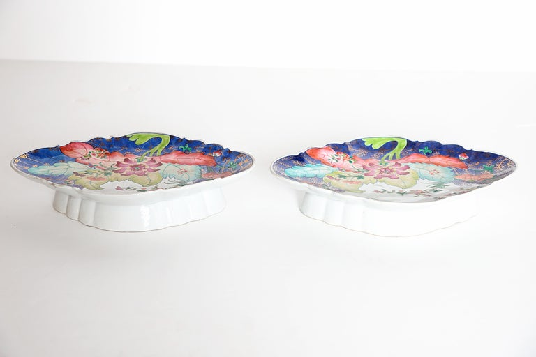 Tobacco Leaf Pattern Chinese Export Dishes, Pair For Sale 10