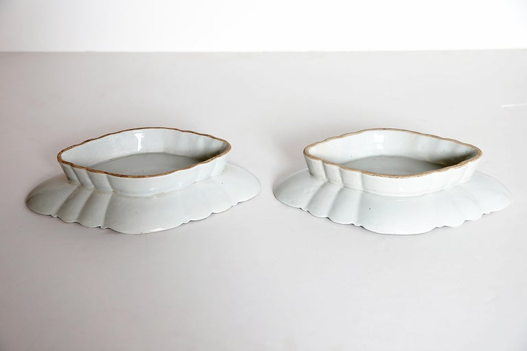 Tobacco Leaf Pattern Chinese Export Dishes, Pair For Sale 11