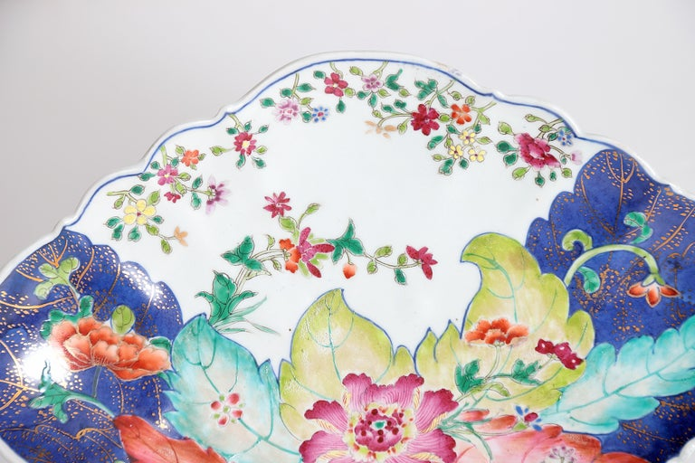 Porcelain Tobacco Leaf Pattern Chinese Export Dishes, Pair For Sale