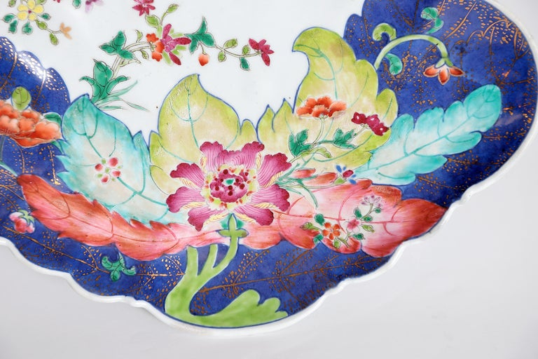 Tobacco Leaf Pattern Chinese Export Dishes, Pair For Sale 2