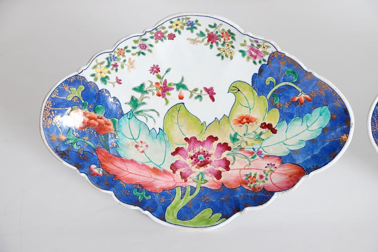 Tobacco Leaf Pattern Chinese Export Dishes, Pair For Sale 3