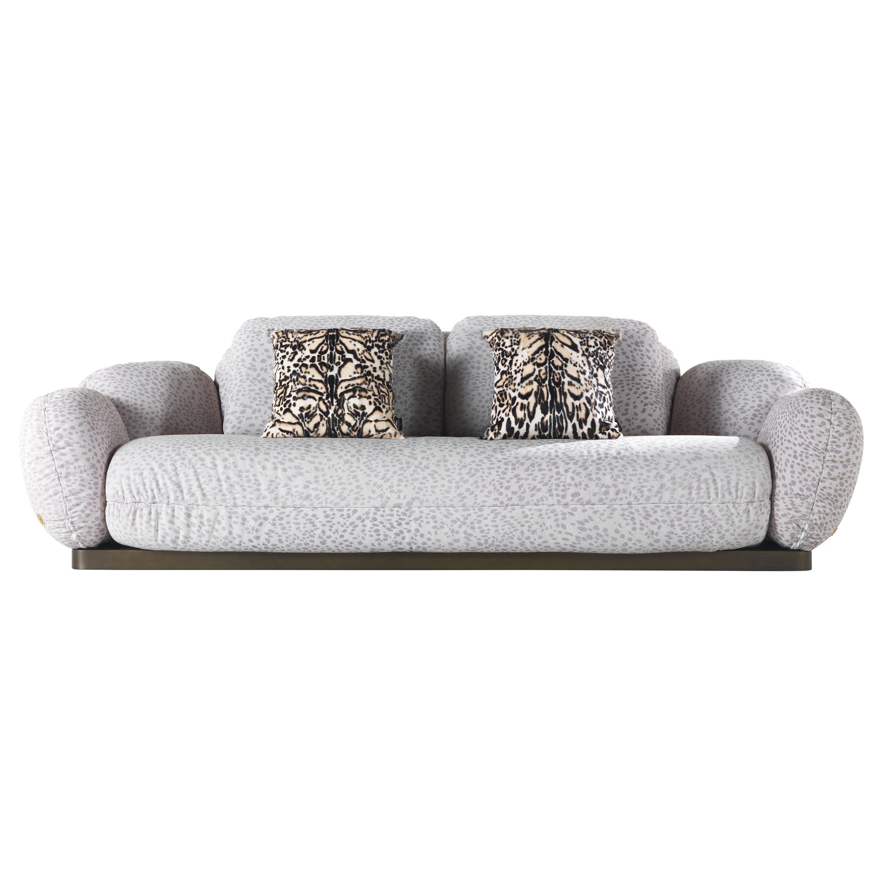 Tobago 3-Seater Sofa in Leather by Roberto Cavalli Home Interiors