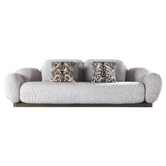 Tobago 3-Seat Sofa in Leather by Roberto Cavalli
