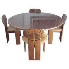 Tobia & Afra Scarpa Africa Dining Room Set from Artona Series by Maxalto, Italy