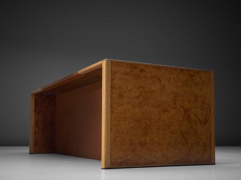 Mid-Century Modern Tobia & Afra Scarpa 'Artona' Desk with Cognac Leather Top For Sale