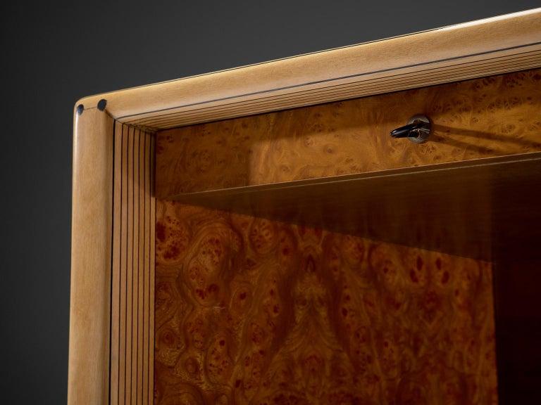 Walnut Tobia & Afra Scarpa 'Artona' Desk with Cognac Leather Top For Sale