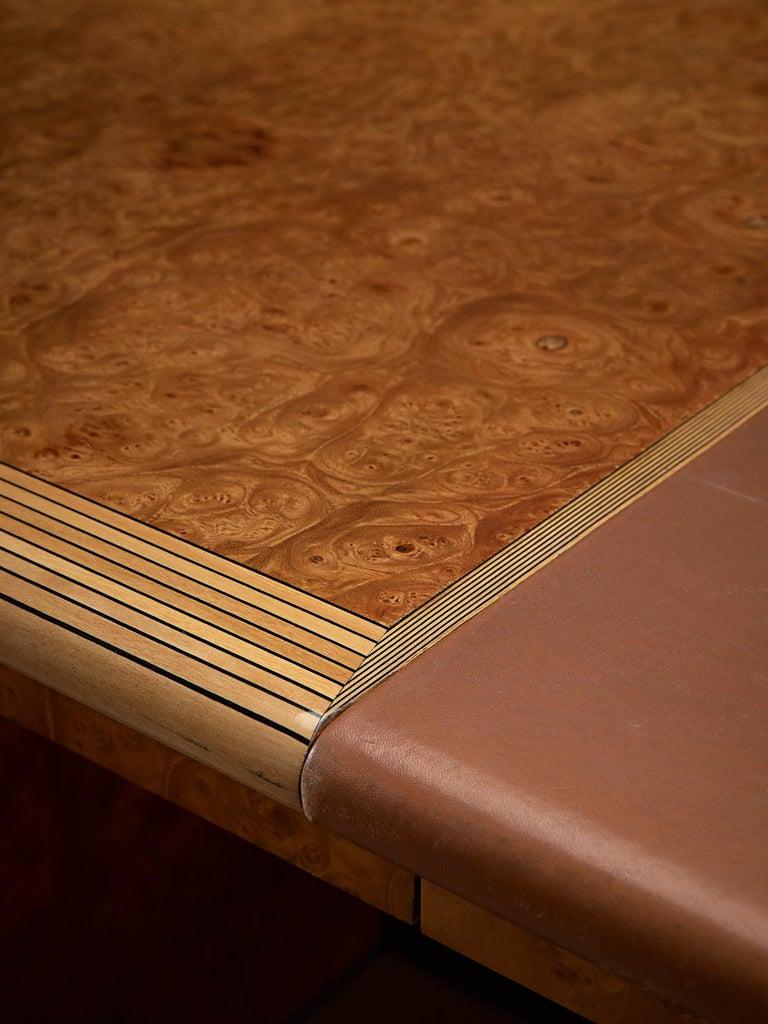 Tobia & Afra Scarpa 'Artona' Desk with Cognac Leather Top For Sale 1