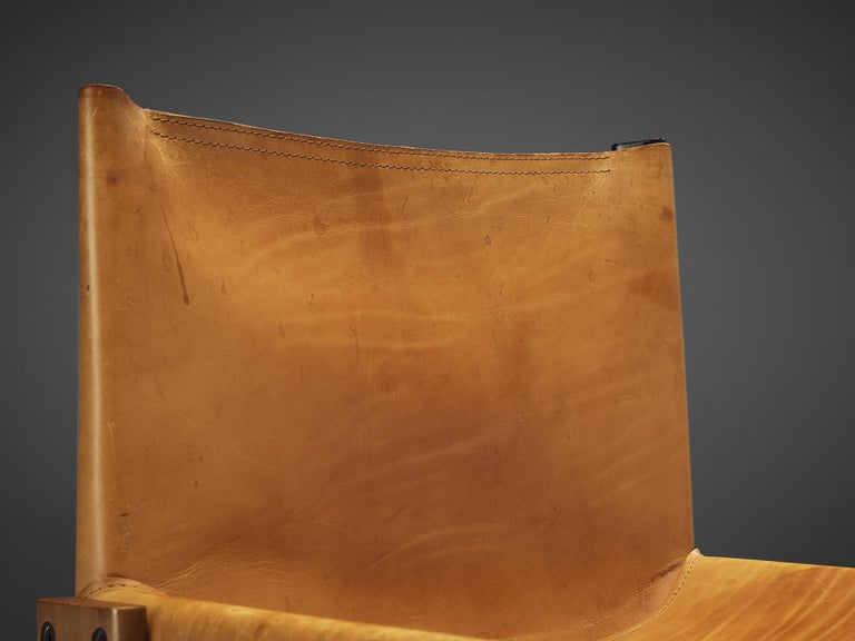 Tobia & Afra Scarpa for Molteni 'Monk' Chairs in Cognac Leather For Sale 3