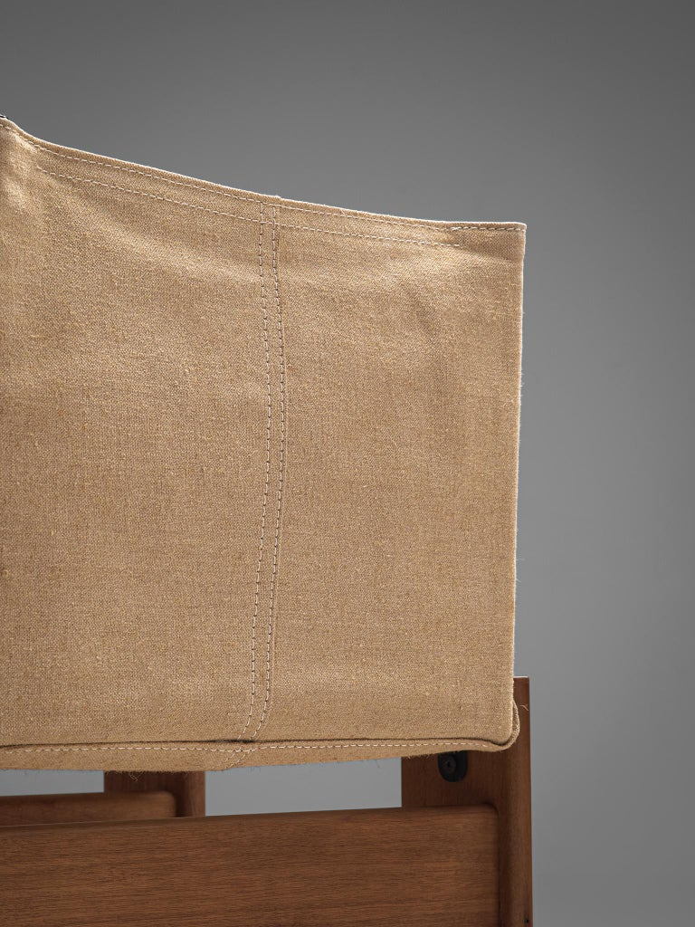 Afra & Tobia Scarpa for Molteni Six Monk Chairs in Naturel Canvas For Sale 1