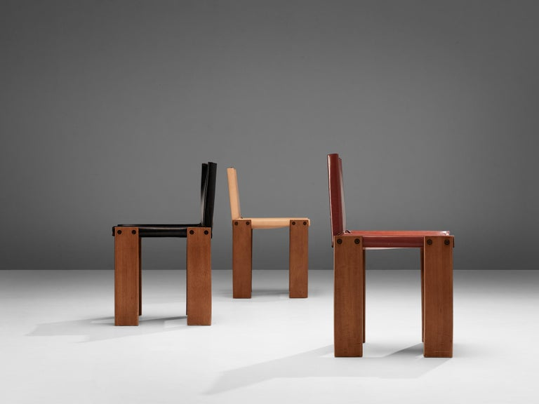 Tobia & Afra Scarpa for Molteni Twelve 'Monk' Chairs For Sale 7