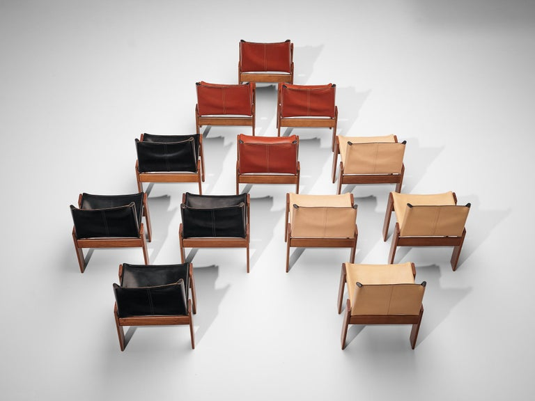 Tobia & Afra Scarpa for Molteni Twelve 'Monk' Chairs For Sale 9
