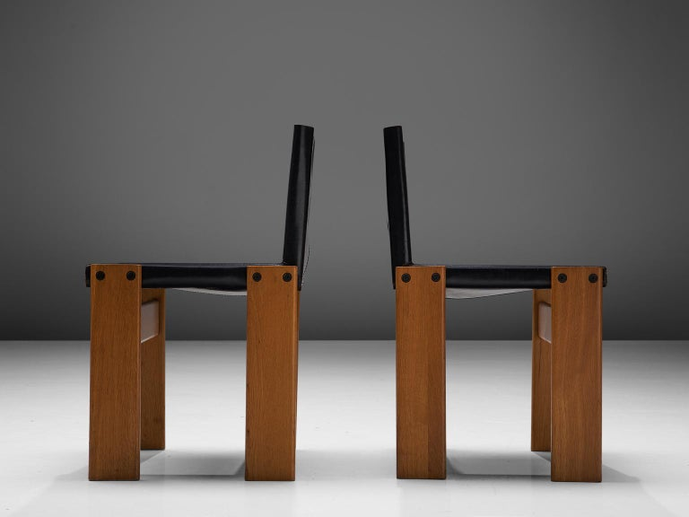 Tobia & Afra Scarpa for Molteni Twelve 'Monk' Chairs In Good Condition For Sale In Waalwijk, NL