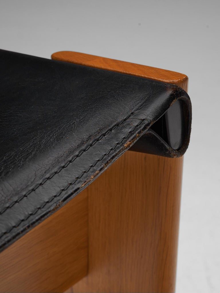 Leather Tobia & Afra Scarpa for Molteni Twelve 'Monk' Chairs For Sale