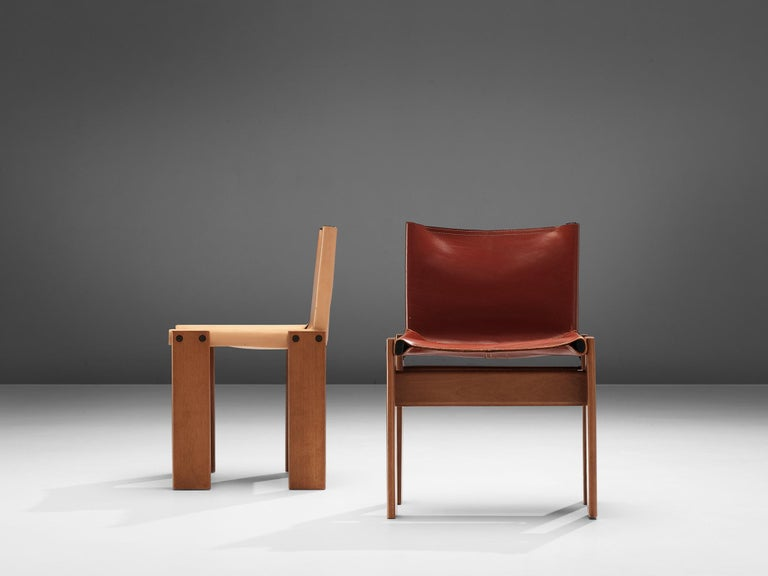 Tobia & Afra Scarpa for Molteni Twelve 'Monk' Chairs For Sale 2