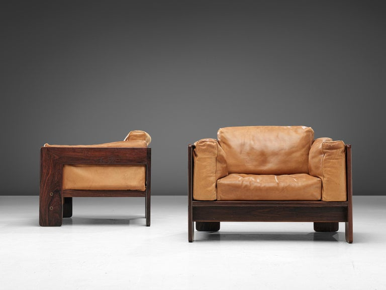 20th Century Tobia Scarpa 'Bastiano' Club Chairs