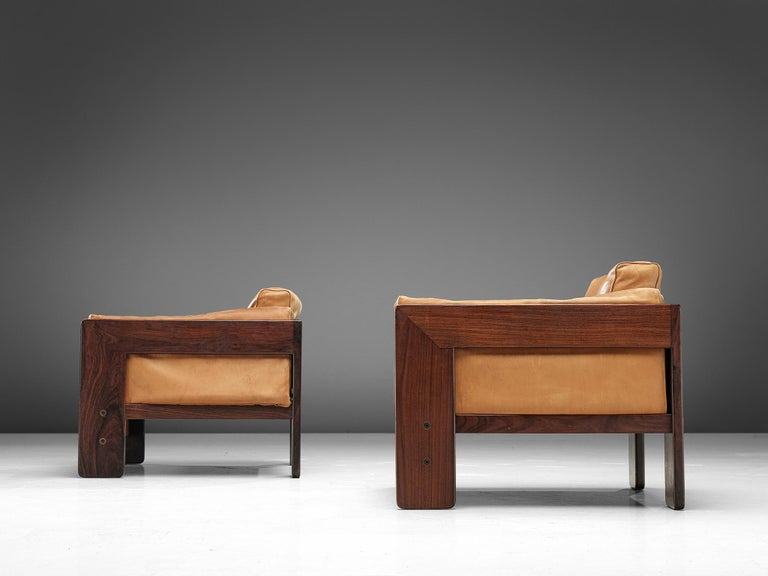 Leather Tobia Scarpa 'Bastiano' Club Chairs