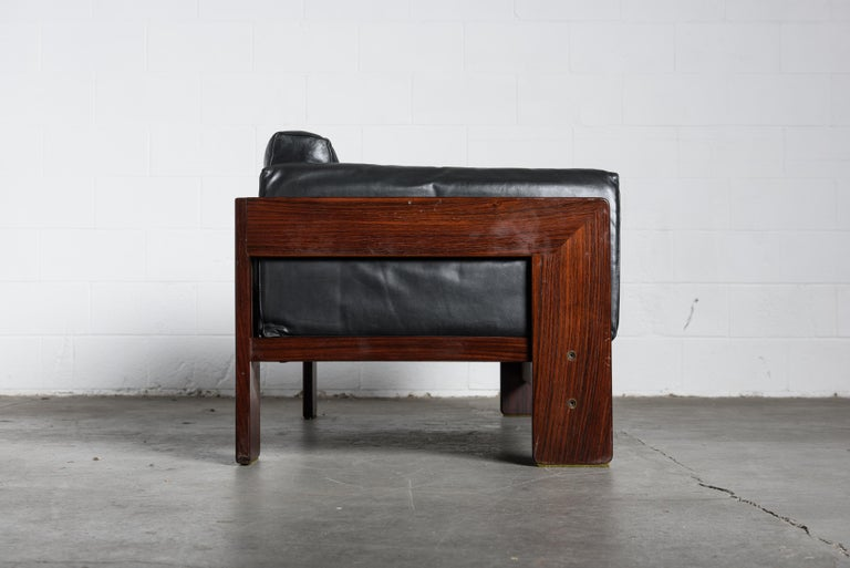 Tobia Scarpa 'Bastiano' Rosewood Loveseats for Gavina, Italy 1960s, Signed For Sale 3