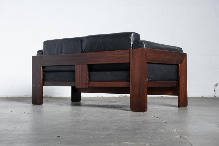 Tobia Scarpa 'Bastiano' Rosewood Loveseats for Gavina, Italy 1960s, Signed For Sale 4