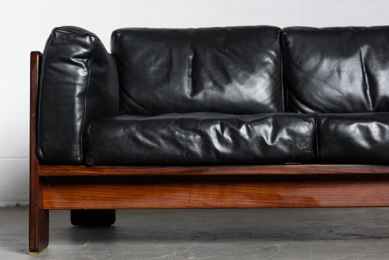 Tobia Scarpa 'Bastiano' Rosewood Loveseats for Gavina, Italy 1960s, Signed For Sale 7