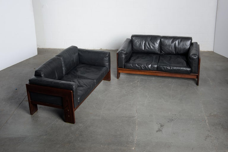 Tobia Scarpa 'Bastiano' Rosewood Loveseats for Gavina, Italy 1960s, Signed For Sale 9