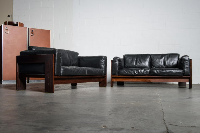 Tobia Scarpa 'Bastiano' Rosewood Loveseats for Gavina, Italy 1960s, Signed For Sale 13