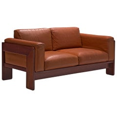Tobia Scarpa 'Bastiano' Two-Seat Sofa with Cognac Leather