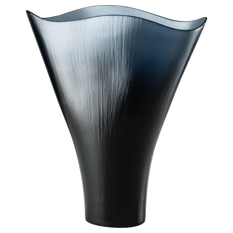 Tobia Scarpa Battuti Vase in Grape Murano Glass For Sale