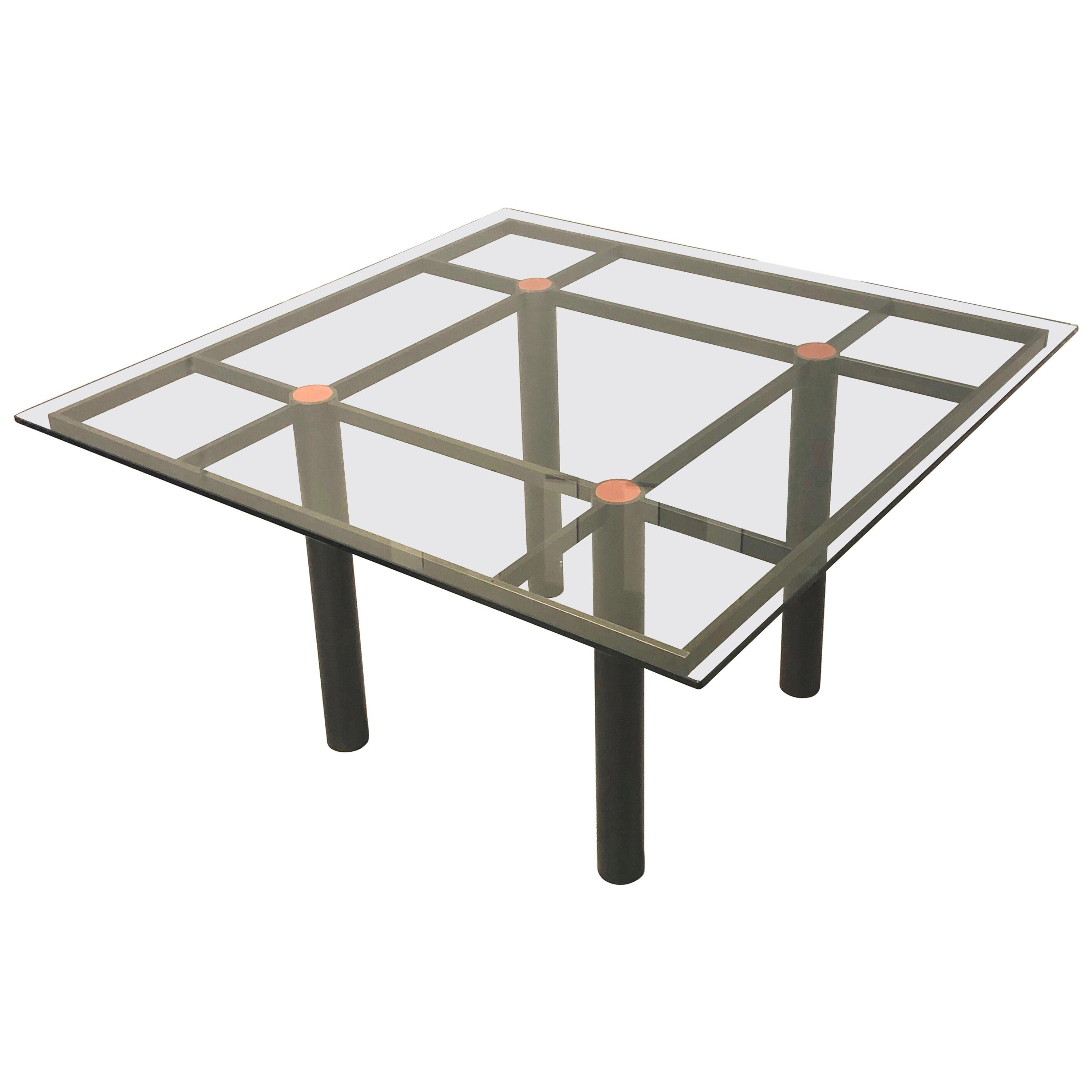 Tobia Scarpa Bronzed Andre Dinning Table for Gavina