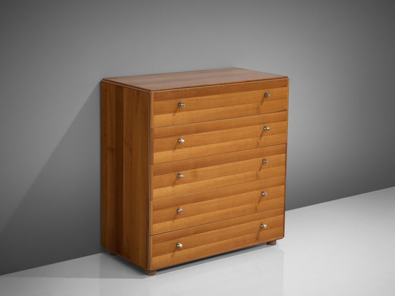 Mid-Century Modern Tobia Scarpa Chest of Drawers in Walnut, 1960s For Sale