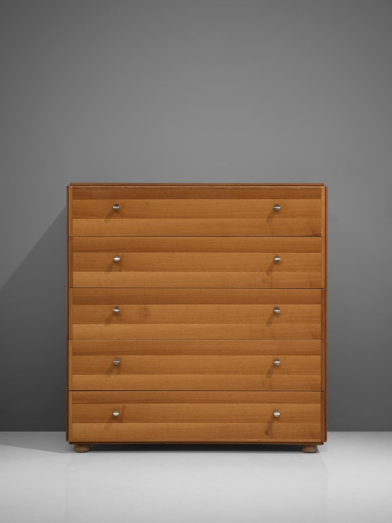 Italian Tobia Scarpa Chest of Drawers in Walnut, 1960s For Sale