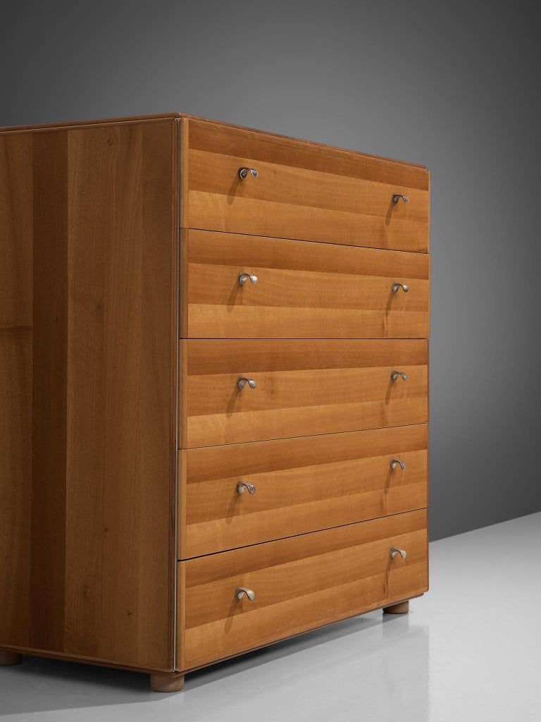 Tobia Scarpa Chest of Drawers in Walnut, 1960s In Good Condition For Sale In Waalwijk, NL