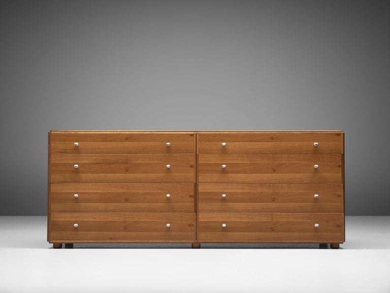 Mid-Century Modern Tobia Scarpa Chest of Drawers in Walnut, 1980s For Sale
