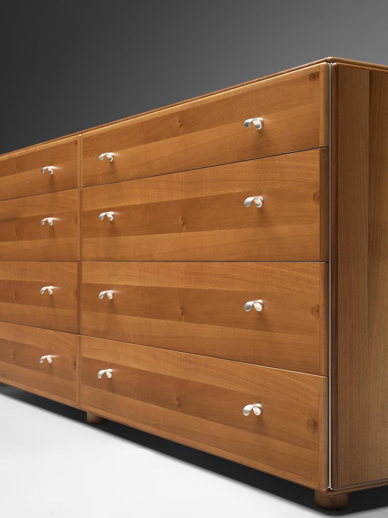 Tobia Scarpa Chest of Drawers in Walnut, 1980s In Good Condition For Sale In Waalwijk, NL