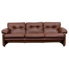 """Tobia Scarpa """"Coronado"""" Leather Sofa for C&B Italia"""