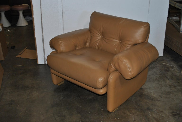 Italian Tobia Scarpa for B&B Italia Coronado Lounge Chair For Sale